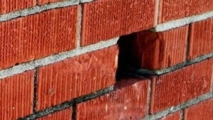 Weep Hole in Brick Wall