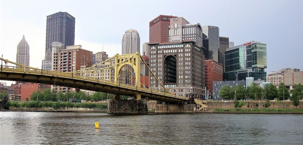 gold bridge in pittsburgh pa